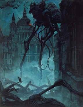 Illustration de Tom Kidd pour La guerre des mondes