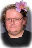 Portrait de Pierre Cormary (dit Montalte) à la fleur, photographie de Kouka