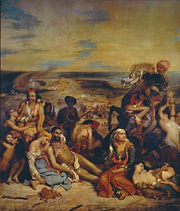 Eugène Delacroix, Scènes des massacres de Scio, 1824