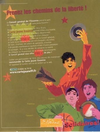 Affiche Mao placardée sur les abribus de l'Essonne en 2003. Cette illustration a également fait la 4ème de couverture du Journal de l'Essonne n° 40, février 2003.