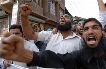 Indiens musulmans du Cachemire adressant leur cordial salut à Benoît XVI, photographie de Sajjad Hussain