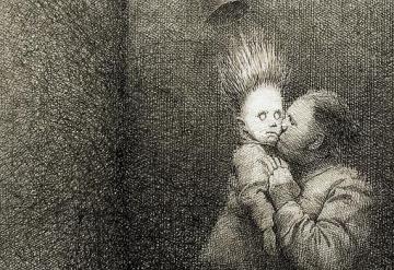 G. Helnwein, Le baiser de Judas, 1985