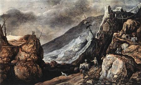 Paysage avec la tentation du Christ, Joos de Momper, sd