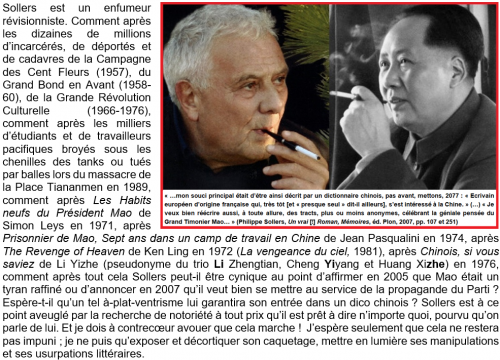 Philippe Sollers, Un vrai Roman, Mémoires, éd. Plon, 2007, pp 107 et 251, Petit précis VI, Damien Taelman.png
